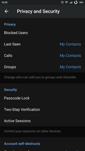 17 telegram privasi