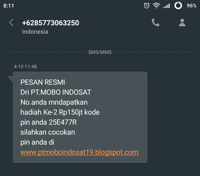 21 sms penipuan