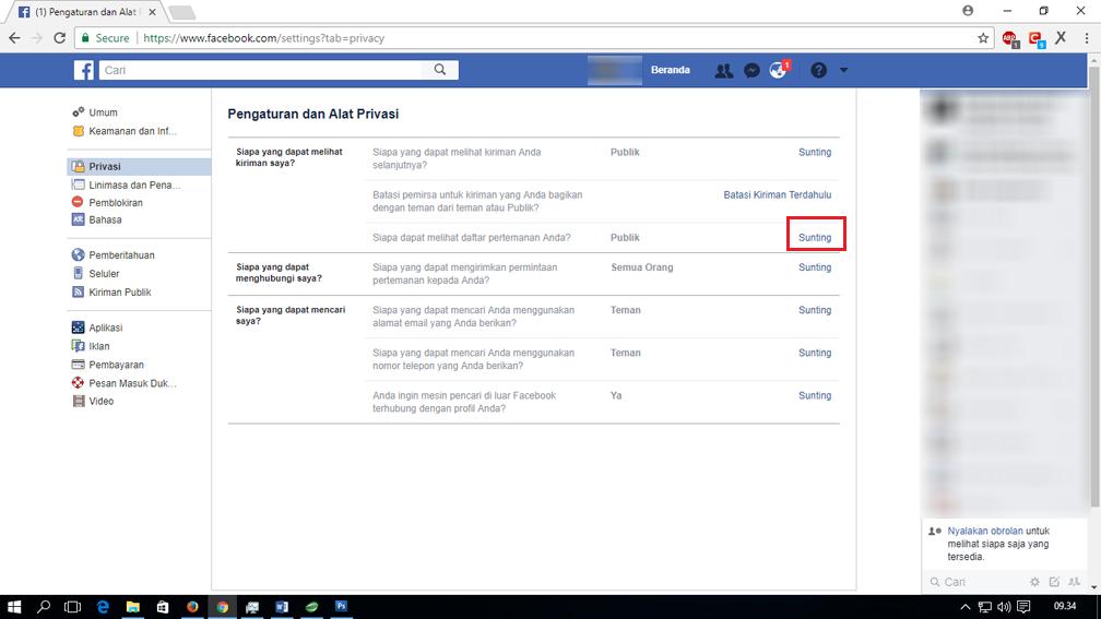 4 setting privasi fb