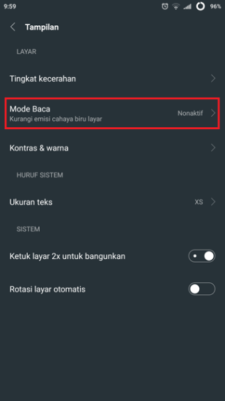 2 android reading mode