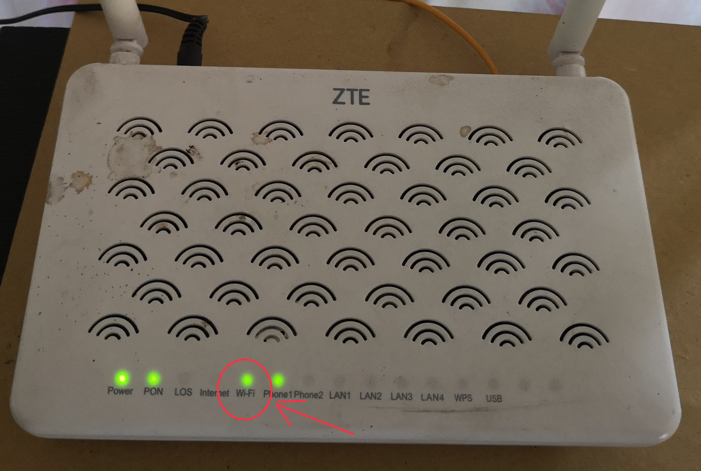 modem wifi on