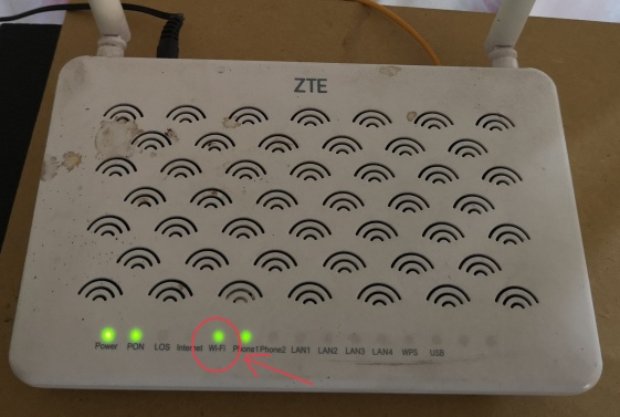 modem wifi on